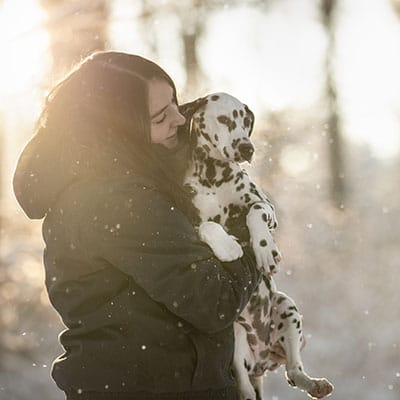 Schnee-Shooting Stefanie Hoyler